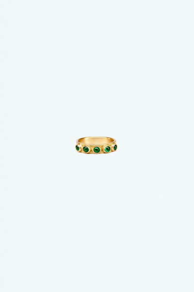 Yellow Gold and Emeralds Eternity Ring